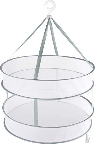 アストロ 平干しネット 2段 大 約直径61cm グリーン 物干しネット 洗濯ハンガー 型崩れ防止 821-15