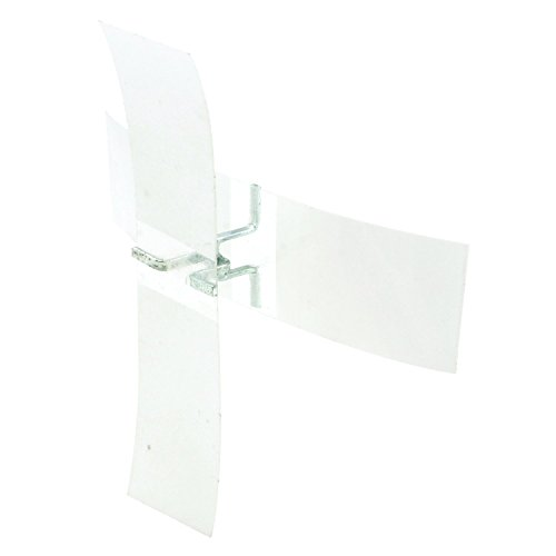 "Prime-Line Products U 11081 Plastic Shutter Repair Clips, Clear Tape, 1/2"" x 2"""