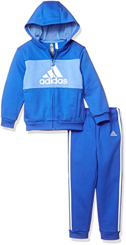 adidas I Logo Full Zip Hooded Jogger Fleece Chandal, Unisex Niños
