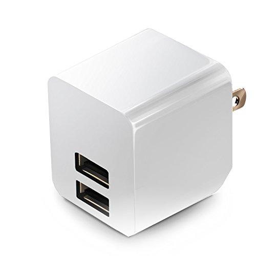 エレコム USB 充電器 ACアダプター コンセント [ iPhone & iPad & スマホ & IQOS & glo 対応 ] USB×2ポート 急速充電器 折畳式プラグ ホワイト MPA-ACUEN000AWH