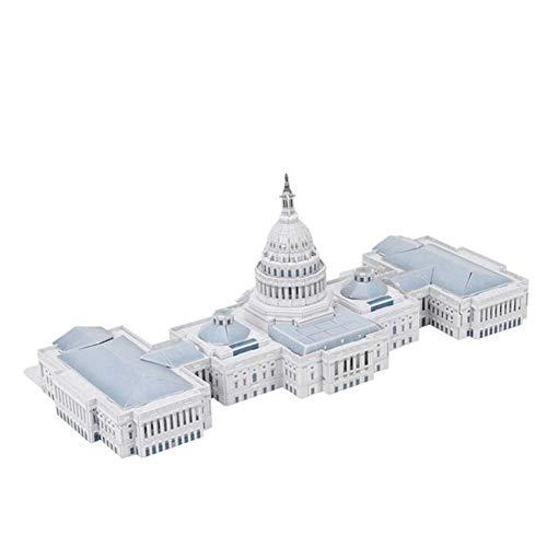 Capitola de los Estados Unidos modelo de puzle 3D, modelo de una ciudad en 3D sin pegamento, alta simulación, oficina, decoración de vacaciones, juguete de regalo 132 esparcimiento 52,5 × 23,5 × 50 cm