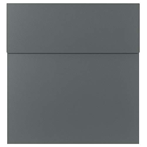 Design-Briefkasten basalt-grau (RAL 7012) MOCAVI Box 570 hochwertiger Wand-Postkasten groß modern wetterfest rostfrei deutsche Markenqualität