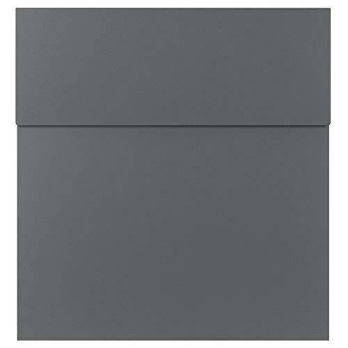 MOCAVI Box 570 Design brievenbus Basalt Grijs (RAL 7012) hoge kwaliteit muur postbus weerbestendig roestvrij staal Modern