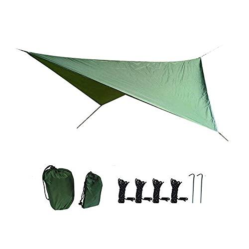 SXPSYWY Suministros de Camping Sunshade Outdoor Impermeable Sunscreen Tienda Círculo de Cuatro enamoras-Ejercito Verde_Doble