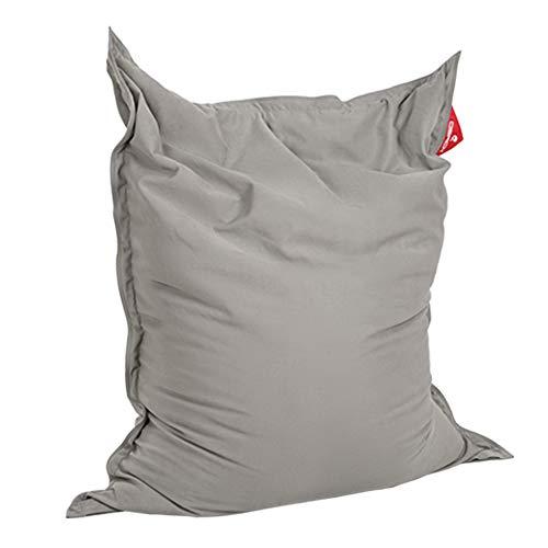 QSack Sitzsack Indy, mit Inlett und schadstoffgefprüfte EPS Toxproof Mikroperlen, 140x180 cm Indoor Sitzsack XXL, Neu (grau)