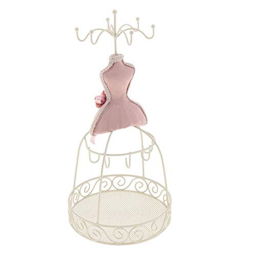 SM SunniMix Weibliche Figur Schmuckständer Ohrring Halsketten Gestell Schmuck Anzeigen Schmuck-Display Halskette Armband Aufhänger - Rosa Stil 1