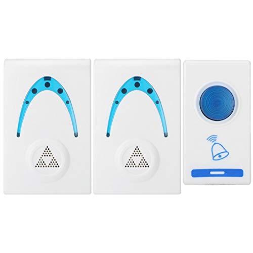 Trådlös ringklocka, trådlös dörrklocka Fjärrknapp Praktiskt LED-ljusbatteri som drivs för hemmet för lägenhet