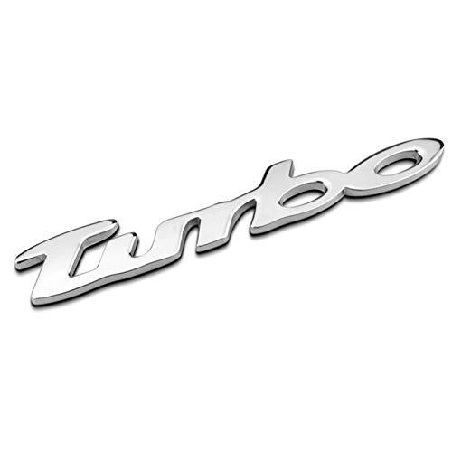 None/Brand Turbo Auto Posteriore Anteriore Adesivo Decalcomania Emblema Stemmi Emblemi Distintivo per C-Hevrolet Malibu Cruz - Chrome,Argento