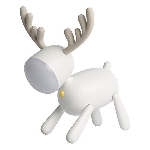 LED Seek Deer Intelligente Zeitschaltuhr Lichtquelle Nachtlicht, Wohnzimmer Schlafzimmer Arbeitszimmer Tischlampe (16,9 * 15,9 * 24 cm)