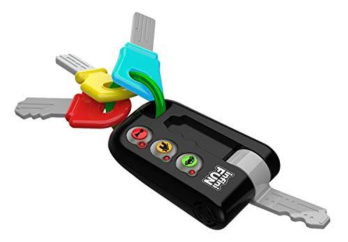 Tech-Too DES13810 Meine ersten Schlüssel, Autoschlüssel für Babys und Kleinkinder, Spielzeugschlüssel mit Sound und Licht, Spielzeug Schlüsselbund