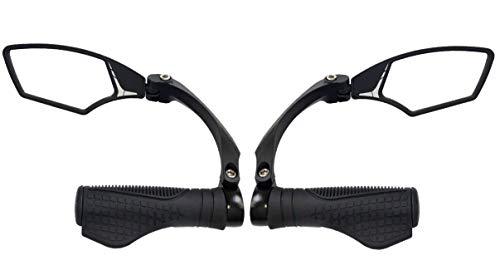 Hafny New Handlebar Bike Mirror, HD,Blast-Resistant, Glass Lens, E-Bike Mirror, HF-MR095