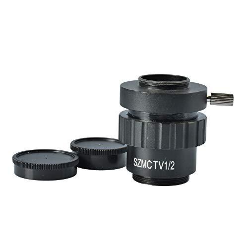 1x 0,5X 0,3 × C-Mount-Objektiv 1 1/2 1/3 CTV-Adapter for SZM-Trinokular-Stereo-Mikroskop-Kamera-Zubehör CCD-Montageadapter Zubehör (Color : 0.5X)