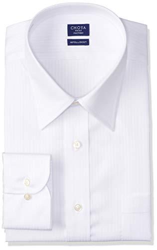 [チョーヤ] CHOYA SHIRT FACTORY 長袖メンズワイシャツ 日清紡アポロコット CFD330 201-白レギュラー 日本 38-78 (日本サイズS相当)