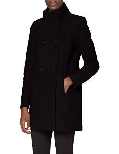 VERO MODA Damen VMCLASSLINE 3/4 Jacket GA BOOS Mantel, Black, L