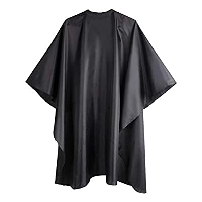 DELKINZ Barber Cape Large Size with Adjustable Snap Closure waterproof Hair Cutting Cape for men, women and kids- Perfect for Hairstylists - Black from Delkinz