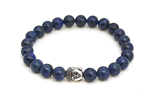 Lapislazuli Armband mit Naturstein Perlen und Buddha Kopf Perle – BERGERLIN Feel Goods
