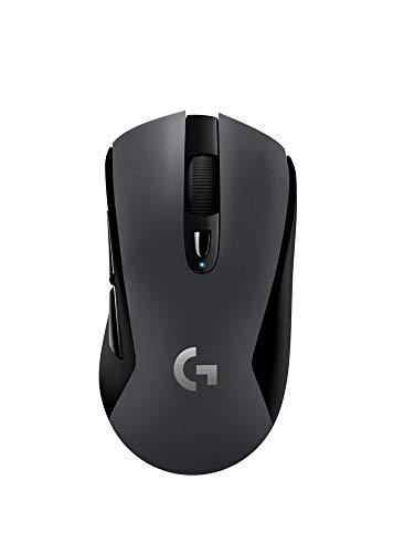 Logitech G603 LIGHTSPEED Ratón Gaming Inalámbrico, Bluetooth o 2.4 GHz con Receptor USB, Sensor HERO, 12000 DPI, 6 Botones Programables, Memoria Integrada, PC/Mac, Versión Alemana, Negro