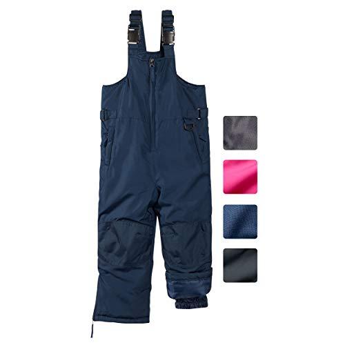 CHEROKEE Boys & Girls Insulated Snow Bib Ski Pants (Navy, 8/10)