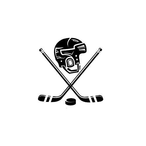 Auto Aufkleber Motorrad Aufkleber Eishockey Helm 15,2 cm * 15,8 cm selbstklebend wasserdicht Sonnenschutz Helm Fenster Autoaufkleber Vinyl Aufkleber