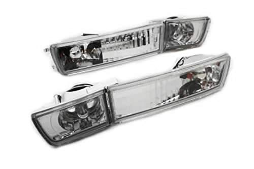 Ormax Clear Crystal Style Euro Bumper Fog & Turn Signal Lights for...