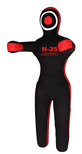 N-35 Boxing Dummy Puppe,Punching Bag,Hanging & Standing,Judo,Boxing,Ringen,MMA, Grappling,Ju Jutsu,Wurfpuppe ungefüllt (RED, 180cm)