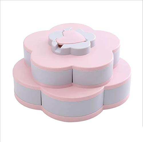 Buddha Bag FS-Heart - Caja de Almacenamiento para Caramelos, Galletas, Galletas y Galletas, 100% ABS, Color Rosa y Gris, 27 cm