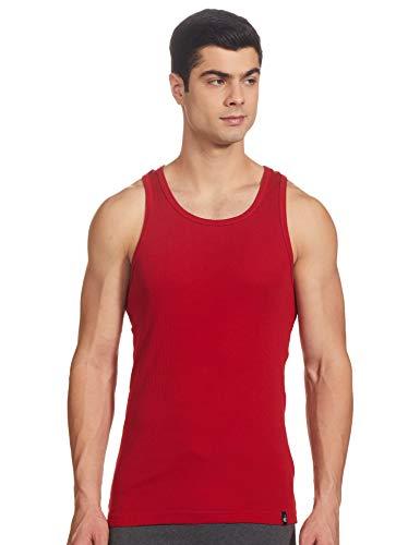 Jockey Men's Cotton Racer Back Vest (8901326071892_9922_S_Shanghai Red)