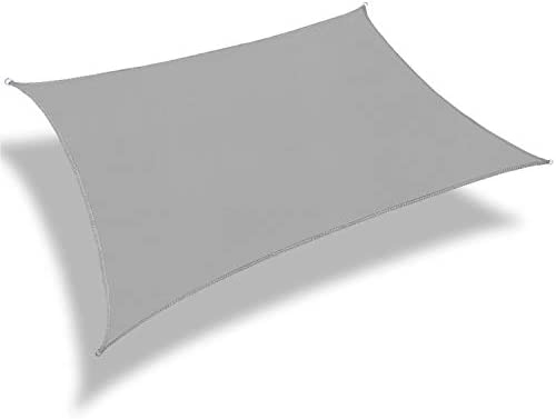 Patio Paradise 16 x 20 Light Grey Sun Shade Sail Rectangle Square Canopy Permeable UV Block product image