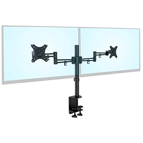 【Amazon.co.jp限定】グリーンハウスモニターアーム横2画面クランプ式30インチ対応耐荷重各10kg(合計20kg)GH-AMDB2H