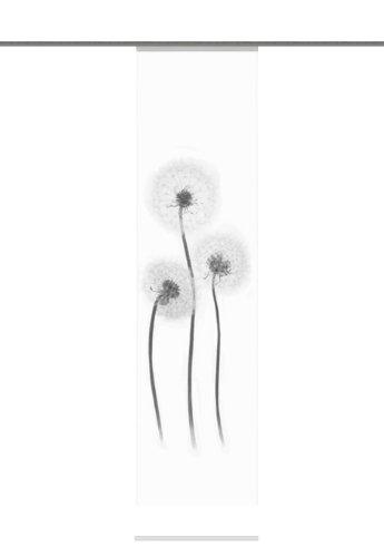 Home Fashion 87428-796 Schiebevorhang Digitaldruck Freiburg, Deko, 245 x 60 cm, schwarz-weiß