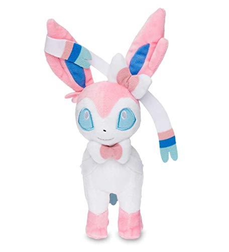 Sylveon Plush - Sylveon Stuffed Animal - Eevee Evolution Plush Figure Toy for Boy, Girl