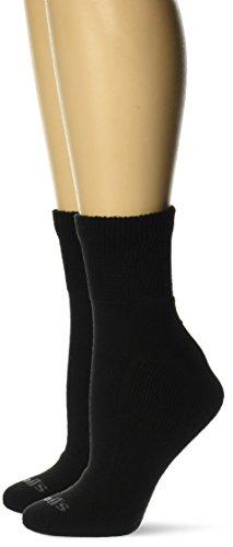 Dr. Scholl's Damen Advanced Relief 2-Pair Ankle-Extended Size Lssige Socken, schwarz, Einheitsgröße (2er Pack)