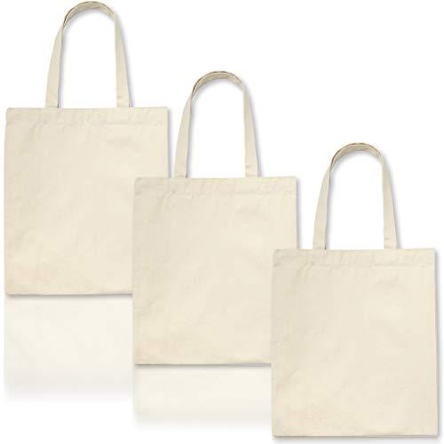 Juvale 6-Pack Plain Blank Canvas Tote Bags voor doe-het-zelf ambachten, schilderij 12,5 x 14,5 inch