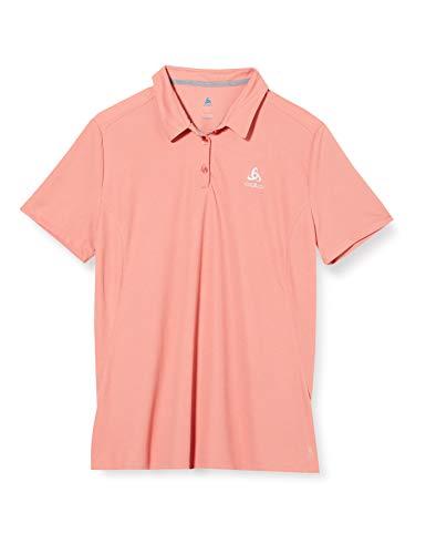 Odlo Damen Polo Shirt s/s F-Dry Poloshirt, Lantana, XL