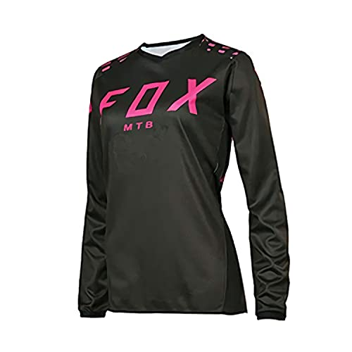 MTB Jersey Boys, Motocross Jersey MTB Downhill Jeresy Dh Camisetas de Bicicleta de montaña Jersey de Ciclismo de Manga Larga Foxmtb Mujer L