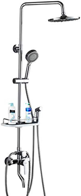 Badezimmer-thermostatischer Regen-Mischer-Duschkombo-Satz an der Wand befestigtes hhenverstellbares Niederschlag-Duschkopf-System poliert, Chrom