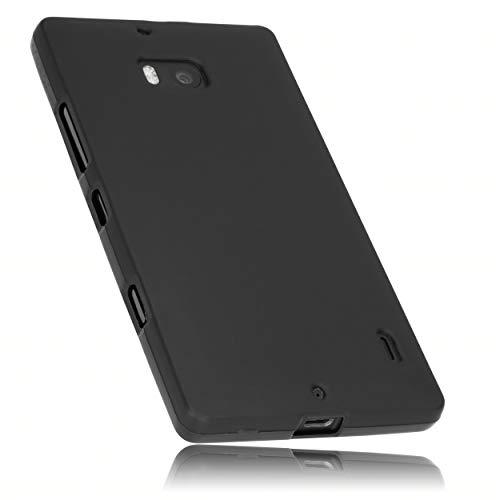 mumbi Hülle kompatibel mit Nokia Lumia 930 Handy Case Handyhülle, schwarz