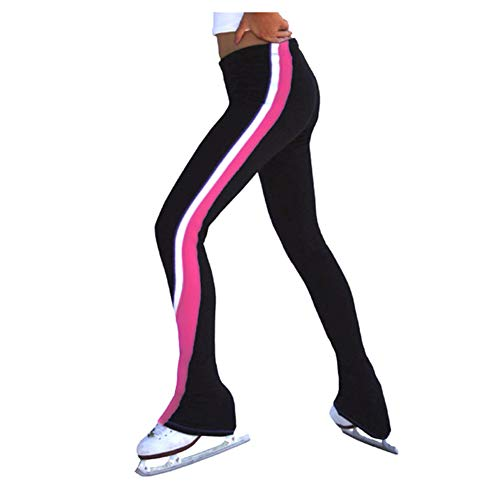 Mädchen Skaten Hose Zahl Skaten Spiral Polartec Polar Vlies Hose Damen Leicht Gamaschen Sportbekleidung,Rosa,110cm