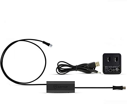 ANTOP Smartpass Amplifier Signal Booster with High Gain & Low Noise & 4G LTE Filter for Any Non-Amplified Antenna to Boost The Over-The-Air TV Signal Black (5ft USB Cable,3ft and 0.3ft Coaxial Cables)