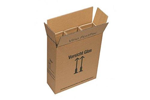 10x PTZ Versandverpackung für 3 Flaschen inkl. Hülsen - Weinkarton - Weinversand - DHL & Hermes Zulassung