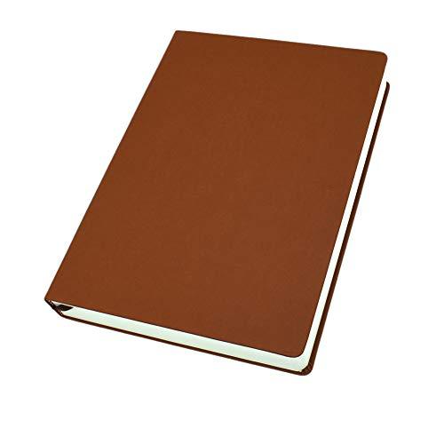 Cuaderno A4 A5 A6 de 660 páginas en blanco con funda de piel sintética para cuaderno de bocetos de negocios, escuela, papelería en el hogar y oficina