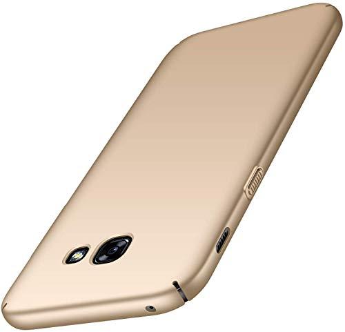 maxx Samsung Galaxy A5 2017 Hülle, Hardcase Handyhülle, Bumper Schutzhülle, Premium Handy Schutz passend für Samsung Galaxy A5 2017, Gold (Doppelpack, 2 Stück)