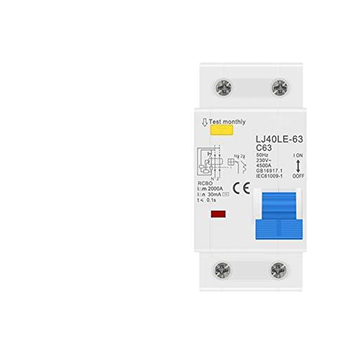 LUOXUEFEI Disyuntor Diferencial Interruptor 16A 20A 25A 32A 63A 230V 50Hz 60Hz Disyuntor De Corriente Residual Con Sobrecorriente
