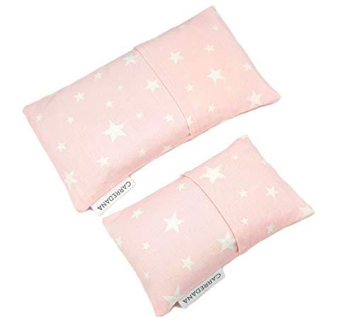 Set Saquito térmico anti cólicos (extra-pequeño para recién nacidos y normal) (Estrellas rosa)