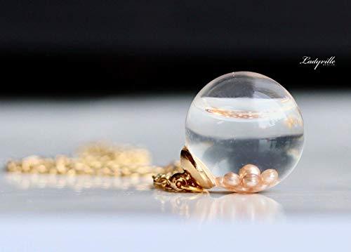 Terrarium Kette Perlen im Wasser