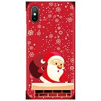 Pnakqil Funda para Samsung Galaxy A32 6,4 Pulgadas Rojo Silicona con Dibujos Carcasa Ultrafina y Ligero Diseño Gel TPU Suave Piel Case Antigolpes Bumper Protectora Back Cover Cases, Navidad 04