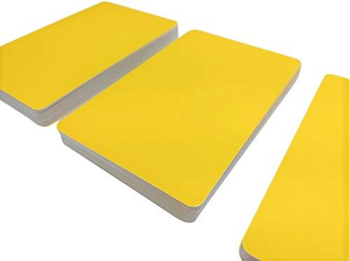 Premium Plastikkarten | PVC Karten Gelb | 5-500 Stück | blanko, Kartendrucker, NEU! (25)