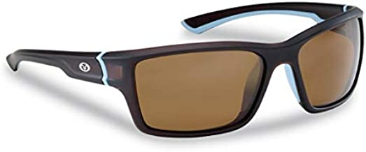 Flying Fisherman Cove Polarized Sunglasses with AcuTint UV Blocker for Fishing and Outdoor Sports, Matte Crystal Frames/Tobacco Amber Lenses