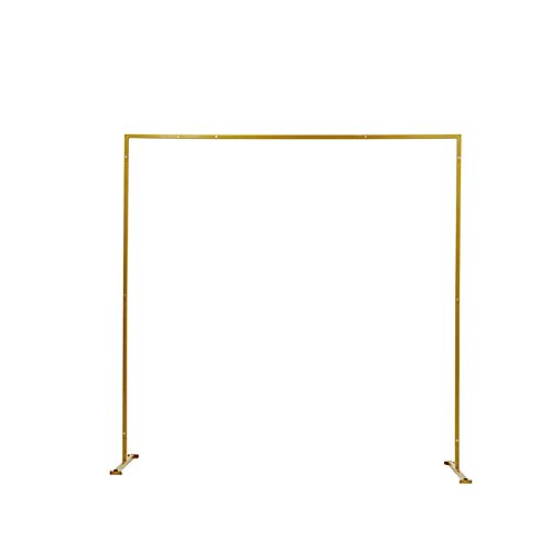 BalsaCircle 8 feet Gold Metal Square Backdrop Stand Arch - Wedding Ceremony Reception Events Party Photo Booth Decorations Supplies