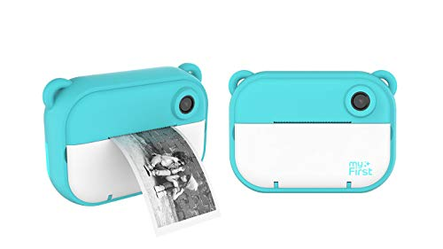 myFirst Camera Insta 2 Instant Camera Hybrid Instant Camera Pink Film Sticker (140 Shots) Front and Selfie Lens for boy Girl (Blue)